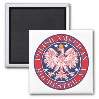 Rochester New York Polish Square Magnet