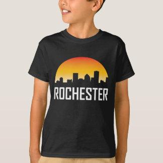 Rochester New York Sunset Skyline T-Shirt