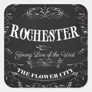 Rochester New York - The Flower City Square Sticker