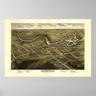Rochester NH 19th Century Birdseye View Poster