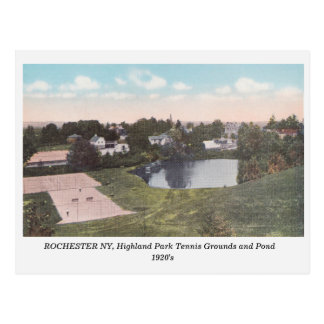 Rochester NY, Highland Park View vintage postcard