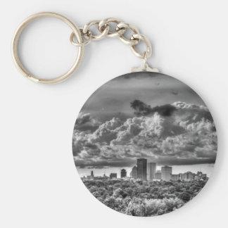 Rochester Skyline Basic Round Button Keychain