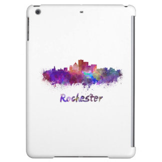 Rochester skyline in watercolor iPad air covers
