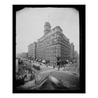 Rochester's Four Corners & Powers Building, 1904 Poster