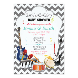 music baby shower invitations announcements zazzle canada