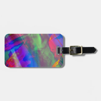 Rock and Roll Color Abstract Luggage Tag