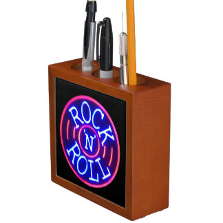Rock and Roll Desk Organizer