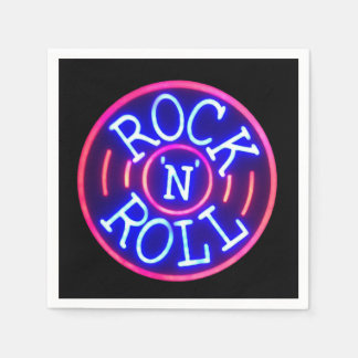 Rock and Roll Disposable Napkin