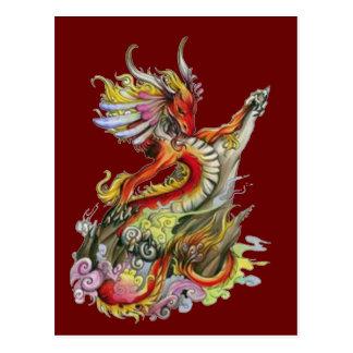 Rock and Roll Dragon Postcard