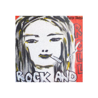 Rock and Roll Girl Canvas Art by Buzza Wuzza