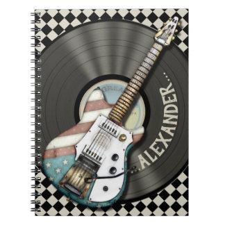 Rock And Roll Guitar Musicians Notebook
