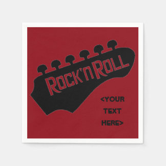 Rock and Roll Guitar Personalized Napkins Disposable Napkin
