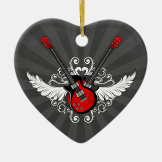 Rock and Roll Guitars ornament