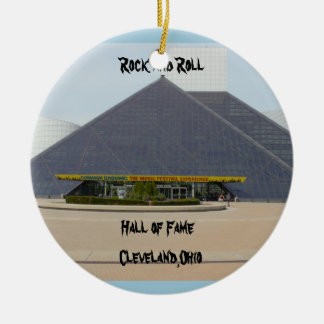 Rock and Roll Hall of Fame Cleveland,Ohio Ornament