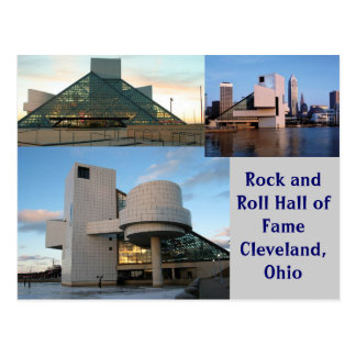 Rock and Roll Hall of Fame Cleveland, Ohio Postcard
