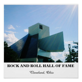 ROCK AND ROLL HALL OF FAME POSTER