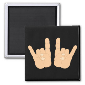 Rock and Roll Hand Sign Magnet