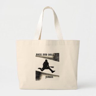 Rock and Roll Junkie Large Tote Bag