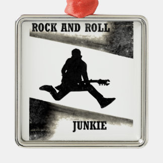 Rock and Roll Junkie Metal Ornament