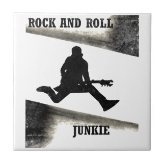 Rock and Roll Junkie Tile