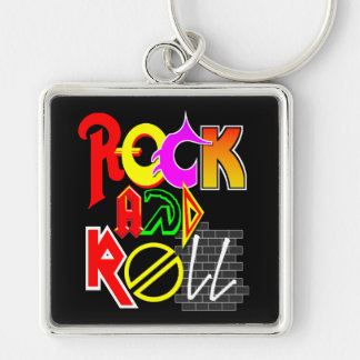 Rock and Roll Keychain (Black)