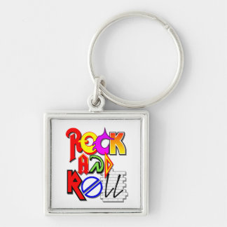 Rock and Roll Keychain (White)
