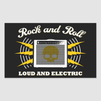 Rock and Roll: Loud and Electric Sticker