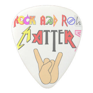 Rock and Roll Matters White Guitar Pick Polycarbonate Guitar Pick