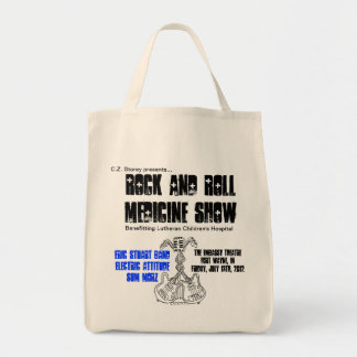 Rock and Roll Medicine Show grocery tote