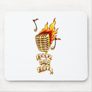 Rock and Roll Microphone Mouse Pad