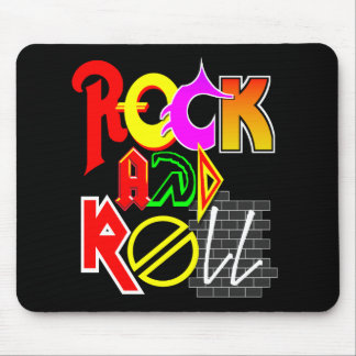 Rock and Roll Mouse Pad (Black)