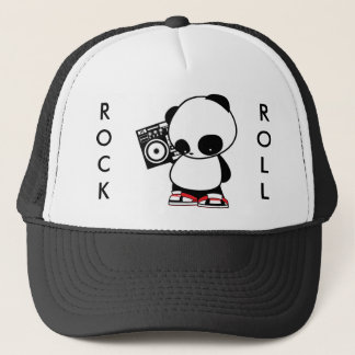 Rock and Roll Panda Trucker Hat