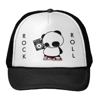 Rock and Roll Panda Trucker Hat