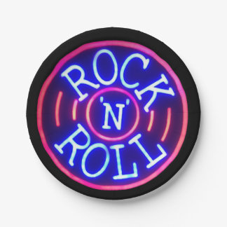 Rock and Roll Paper Plate