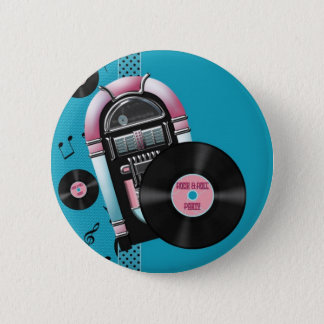 Rock and Roll Party 2 Inch Round Button