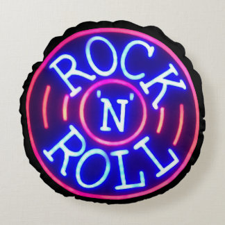 Rock and Roll Round Pillow