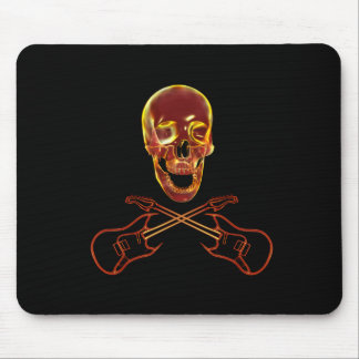 Rock and Roll Skull Mouse Pad