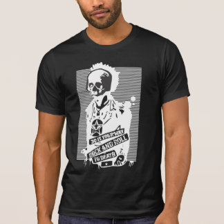 rock and roll to death black T-Shirt