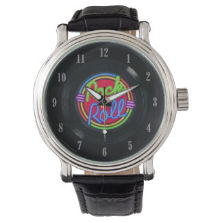 Rock and Roll Vintage Vinyl Record Wrist Watch 2