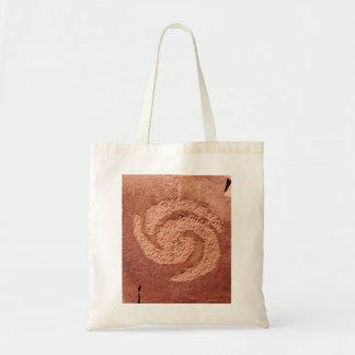 Rock Art Spiral Tote Budget Tote Bag