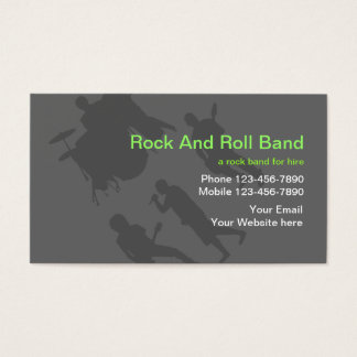 Rock N Roll Business Cards and Business Card Templates