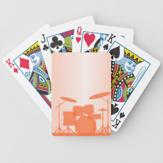 Rock Band Equipment On Stage Bicycle Playing Cards