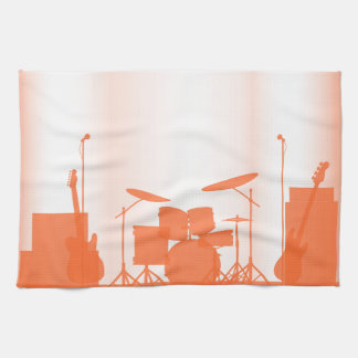 Rock Band Equipment On Stage Hand Towels