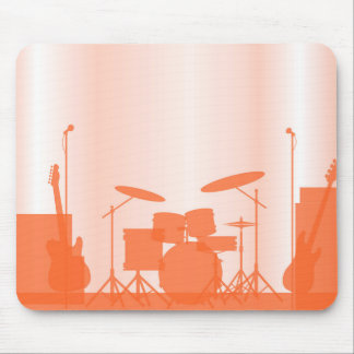 Rock Band Equipment On Stage Mouse Pad
