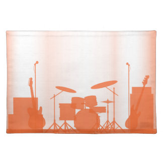 Rock Band Equipment On Stage Placemat