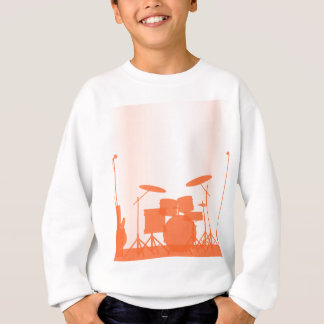 Rock Band Equipment On Stage Sweatshirt