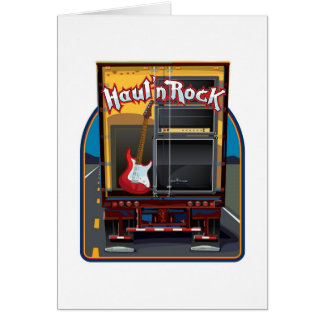 Rock Band Guitar Truck Card