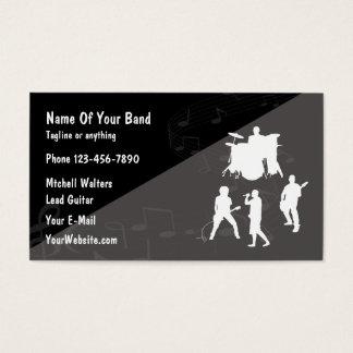 Rock Band Theme Business Card