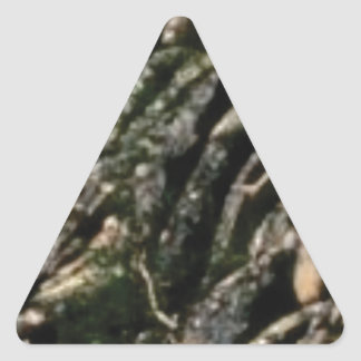 rock bends texture triangle sticker