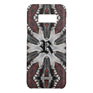Rock Biker Western Studded tooled Leather Case-Mate Samsung Galaxy S8 Case